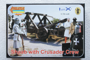 Strelets 1/72 STA010 Shaab with Crusader Crew (Medieval)